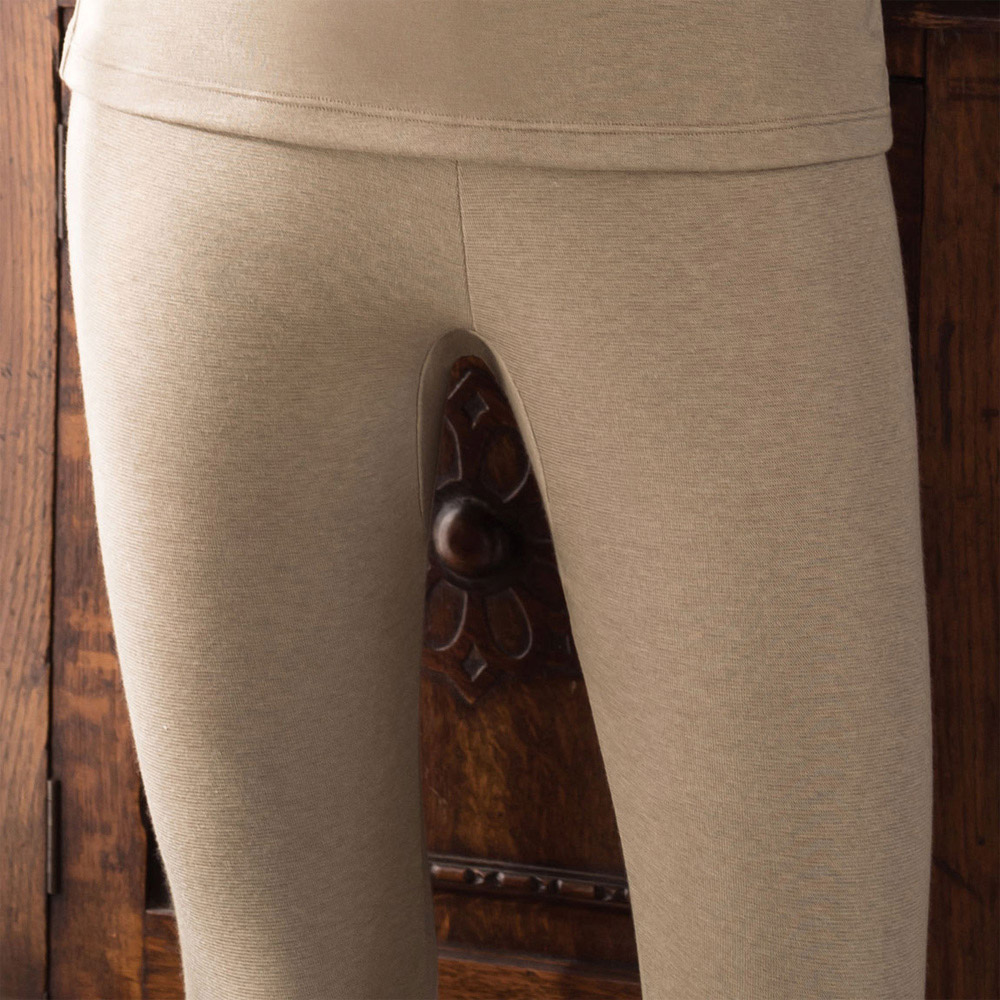 華歌爾 NEW EKS升級發熱 M-LL 九分保暖褲(知性褐)-保暖-