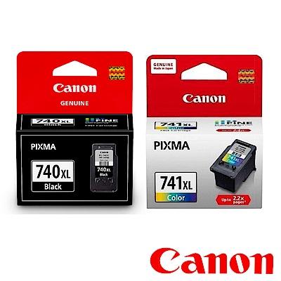 Canon PG-740XL + CL-741XL 原廠高容量黑彩墨水二入組合