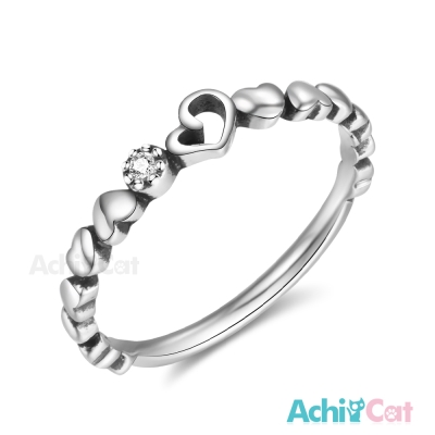 AchiCat 925純銀戒指尾戒 甜蜜時代