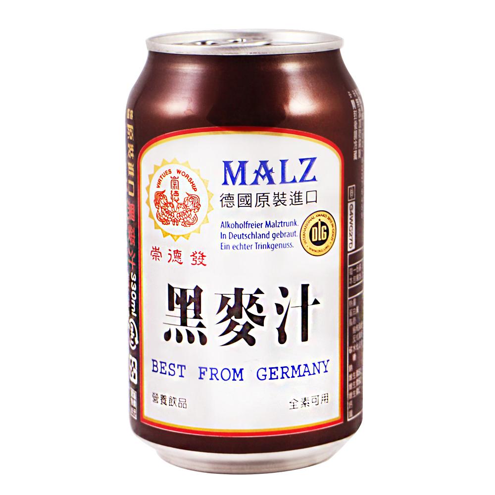 崇德發 易開罐黑麥汁(330mlx6罐)