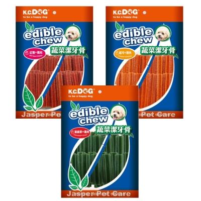 K.C.DOG荷蘭《六角蔬菜潔牙骨-短支40入》三種口味 單包入