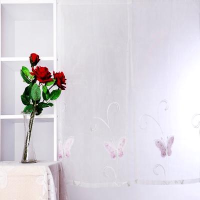 禧藤生活-蝴蝶-珍珠紗系列門簾-白