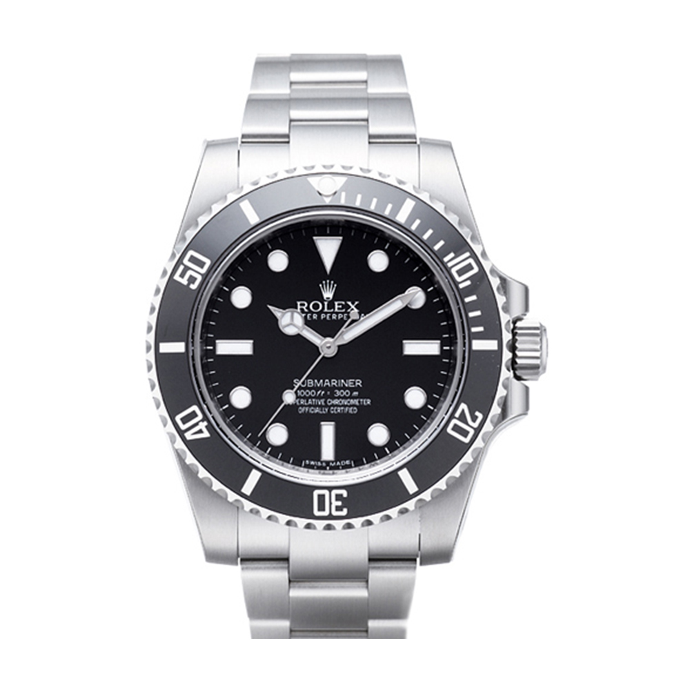 ROLEX 勞力士 Submariner 114060 蠔式恆動黑水鬼腕錶-黑/40mm