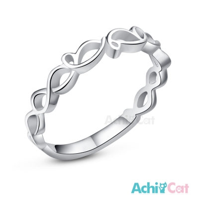 AchiCat 925純銀戒指尾戒 甜蜜花冠