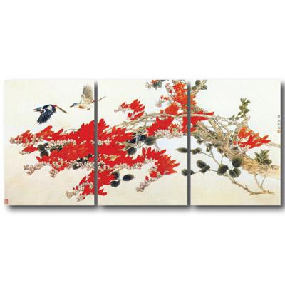 橙品油畫布- 三聯無框圖畫藝術家飾品 - 鶼鰈情深30*40cm