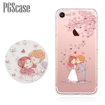 PGS iPhone 8 / 7 4.7吋 奧地利彩鑽防摔手機殼-櫻花戀