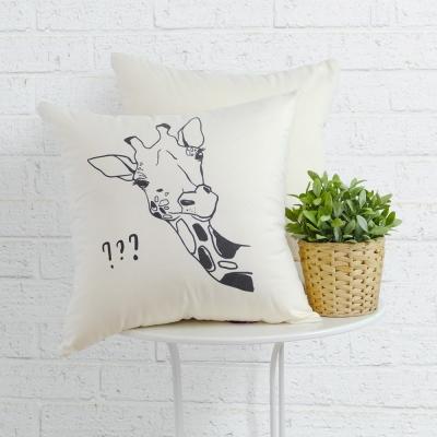 IN HOUSE-抱枕-Canvas系列-giraffe