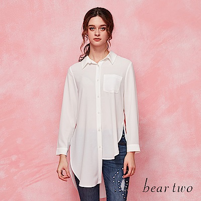beartwo 不對襯下擺長版襯衫(二色)