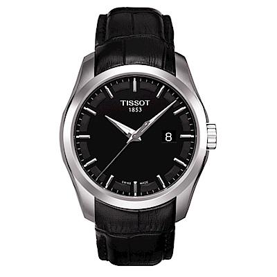 TISSOT天梭Couturier建構師簡約腕錶(T0354101605100)-39mm