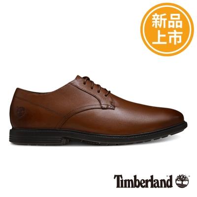 Timberland 男款咖啡色舒適避震皮革淺口鞋 @ Y!購物