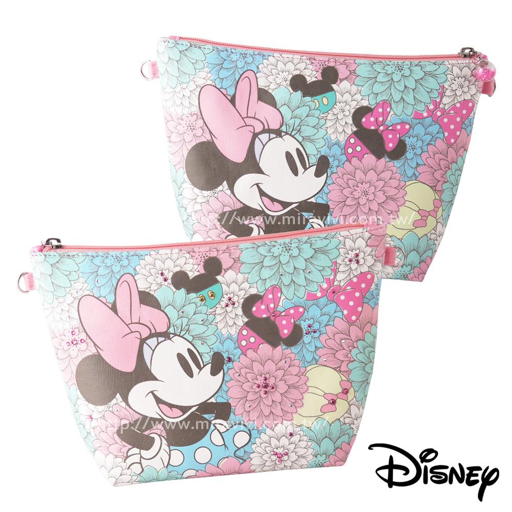Disney迪士尼華麗經典施華洛世奇水鑽多功能化妝包/萬用包_米妮