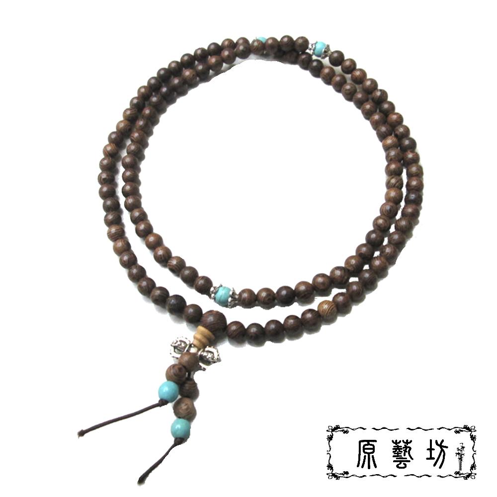 原藝坊 雞翅木108顆長念珠 (圓珠直徑約6mm)