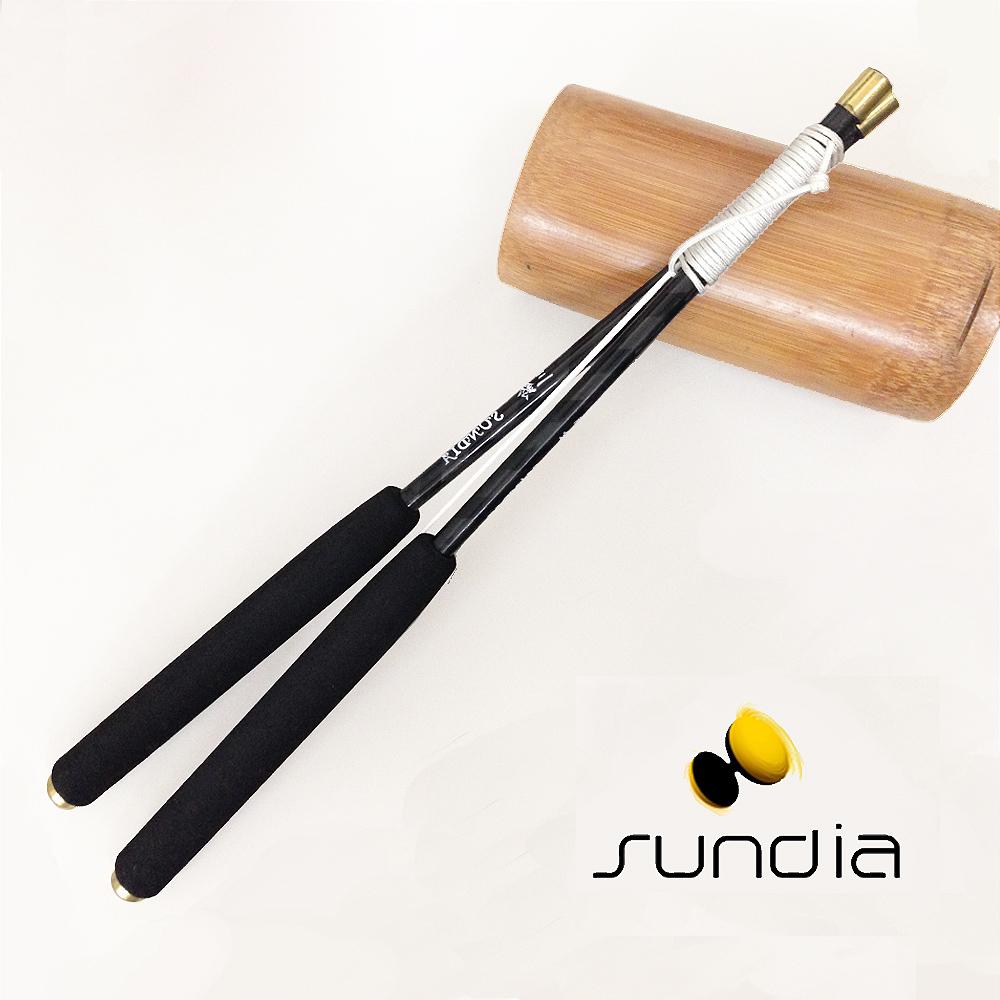 【三鈴SUNDIA】台灣製造 扯鈴用專業鈴棒--不易長繭35cm大碳棒(附繩)