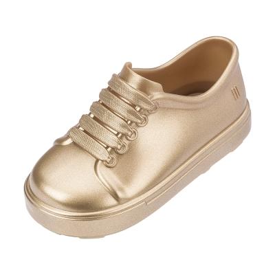 MINI MELISSA漆皮運動風小童鞋-金色