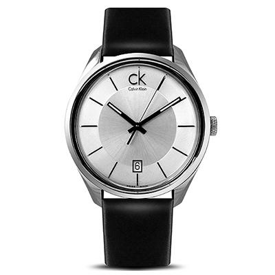 cK Masculine 時尚簡約都會時尚腕錶~銀/43mm