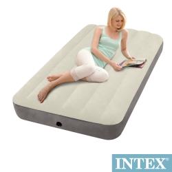 INTEX 新型氣柱-單人加大植絨充氣床墊-寬99cm (64707)