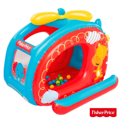 《凡太奇》Fisher-Price。直升機造型充氣球池(附25顆球)93502
