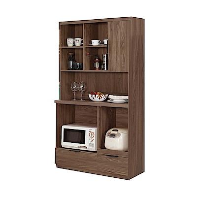 品家居 謝爾達3.3尺餐櫃組合(三色可選)-100x40x183cm免組
