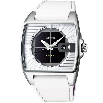 WIRED HYBRID 太陽能時尚腕錶(AUA007X1)-白