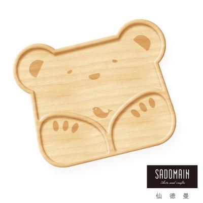 仙德曼 SADOMAIN  山毛櫸兒童餐盤-北極熊