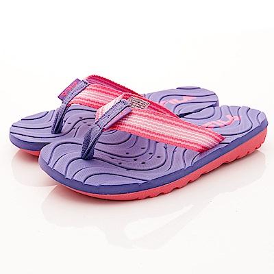 FILA頂級童鞋 輕量排水拖鞋款 FO34R-955紫粉(中大童段)C