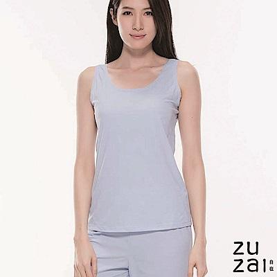 zuzai 自在絲感奇蹟居家圓領背心-女-淺藍色