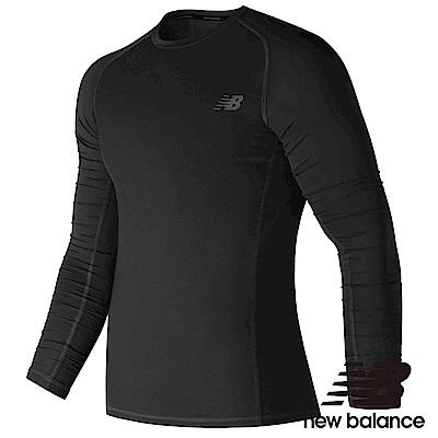 New Balance 緊身彈性長袖T恤 MT73036BK 男性 黑色