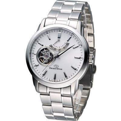 Orient Star 經典小鏤空動力儲存機械腕錶-白/39mm