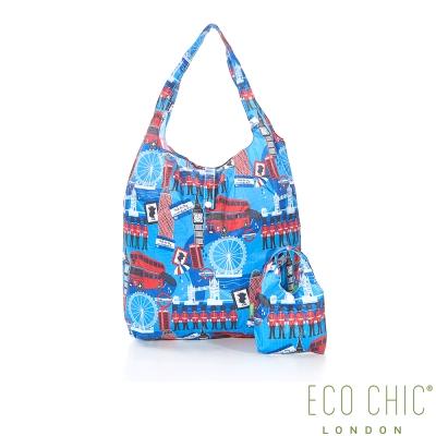 英國ECO CHIC折疊購物袋-英倫藍