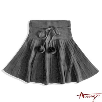 Anny針織毛線球短裙*3257灰