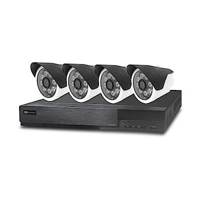 全視線  4 路監控主機HS-HA 4311 +紅外線攝影機MB-AHD 872 H x 4 顆