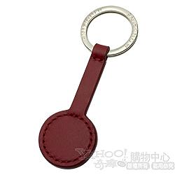 MONDAINE 瑞士國鐵原創紅色圓秒針牛皮鑰匙圈