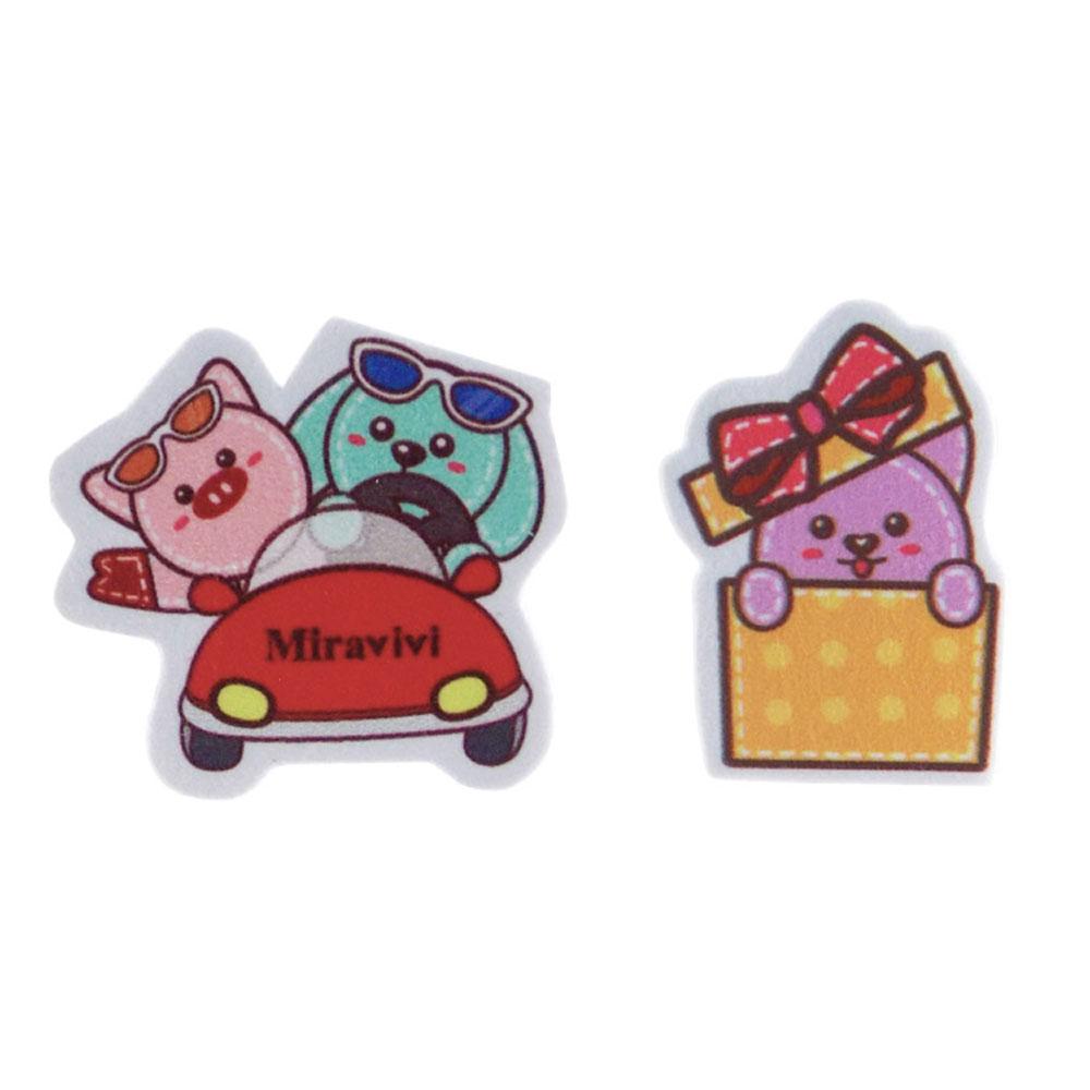 Miravivi 可愛動物狂想曲系列螢幕擦拭貼-旅行禮物組合
