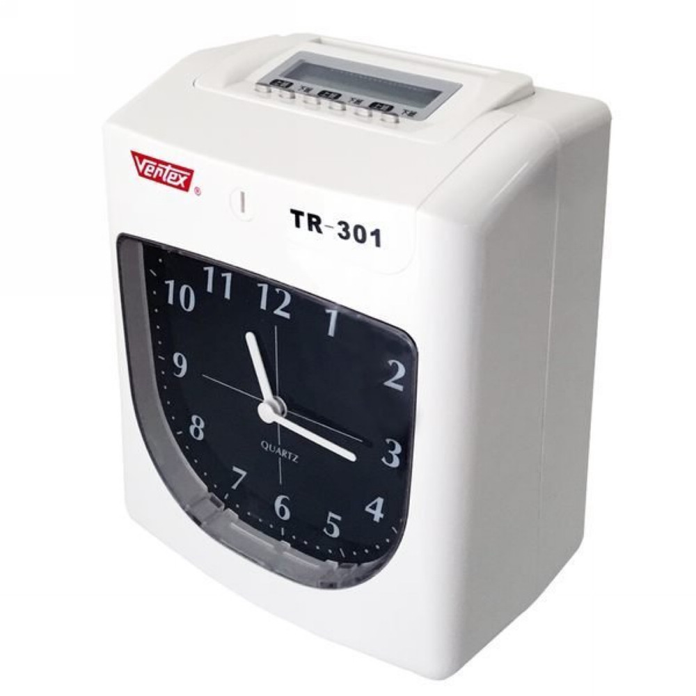 Vertex 世尚 TR-301 六欄位點陣式打卡鐘 送餐具 現折