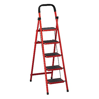 H&D 紅/黑五層步梯 (寬42X深85X高161cm)