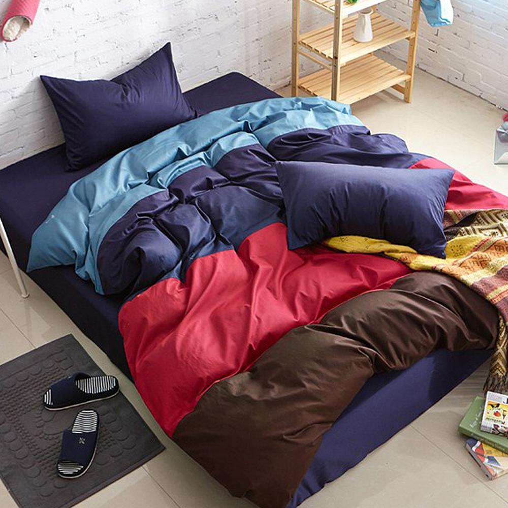 Aileen-撞色糖果單人三件式被套床包組-英倫糖果