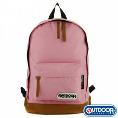 OUTDOOR Classic Preppy復古學院皮底後背包-粉紅 OD485EXPPK