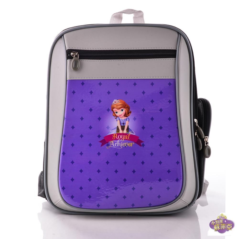 小公主蘇菲亞 立體護脊透氣書包 深紫色