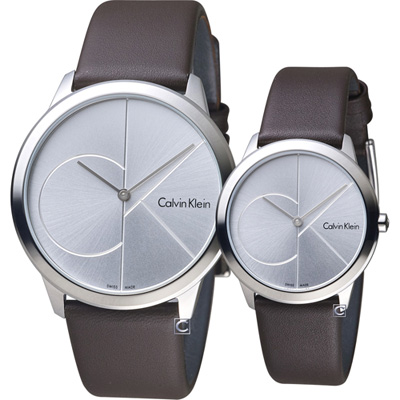 Calvin Klein大ck簡約對錶(K3M211G6+K3M221G6)