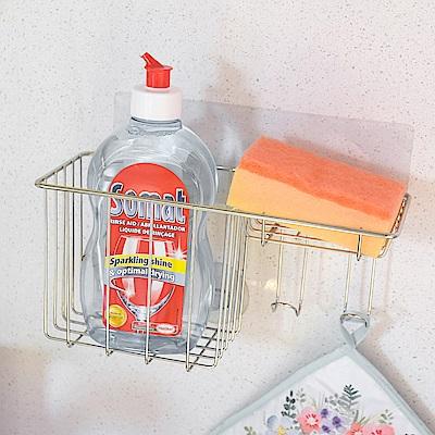 樂貼工坊 洗碗精架/菜瓜布架/掛勾/微透貼面(2入組)-24x9.5x11.5