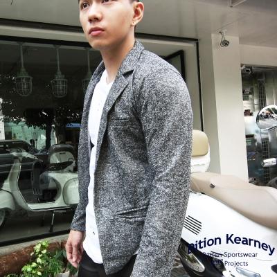 DITION-英倫劍領麻花棉質西裝外套-率性西服