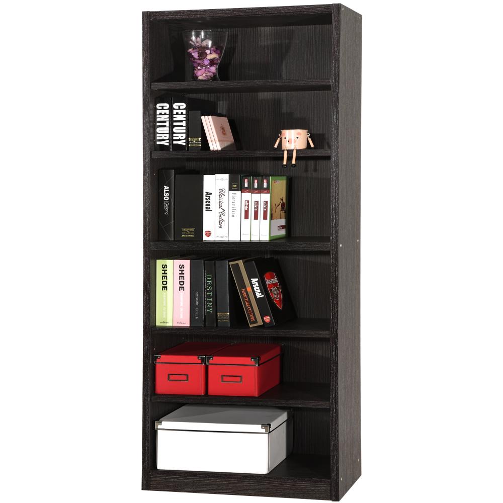 【EASY HOME】六格加寬厚板胡桃書櫃 收納櫃