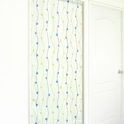 布安於室-小花花遮光風水簾-綠色