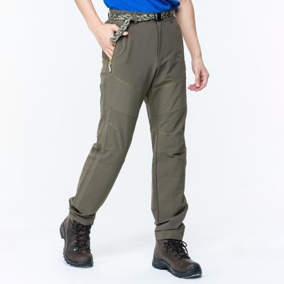 【ATUNAS 歐都納】男款防曬耐磨彈性休閒長褲(附腰帶)A-PA1711M橄欖綠
