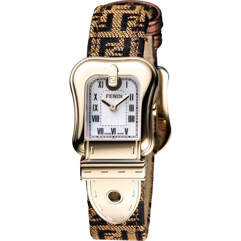 FENDI  B.Fendi 金色風華腕錶-小/ 20x25mm