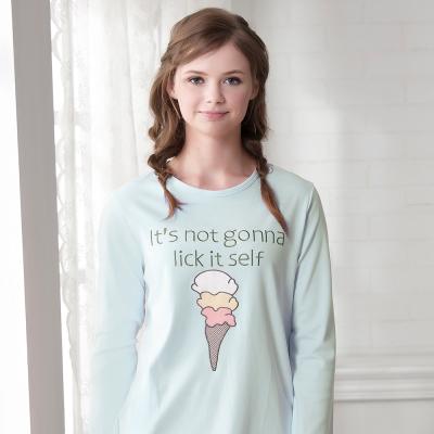 羅絲美睡衣 - 童話人生長袖褲裝睡衣(藍綠色)