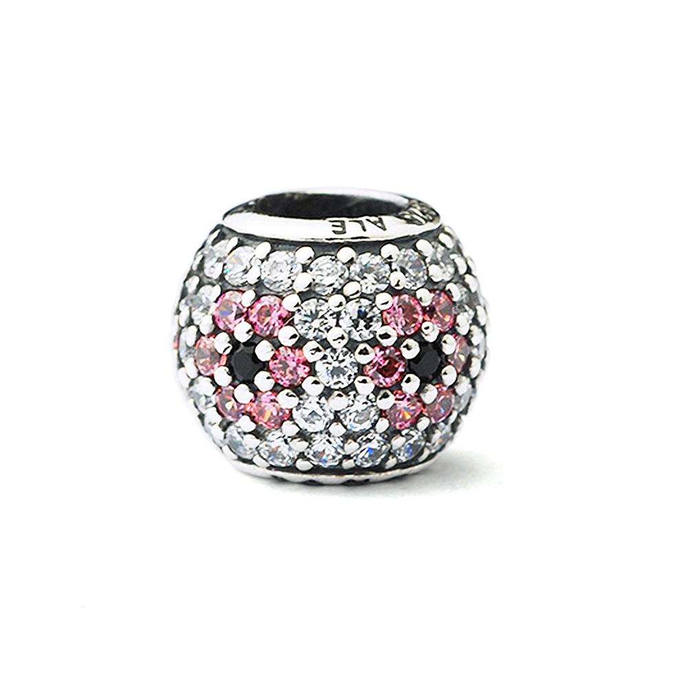 Pandora 潘朵拉 粉紅櫻花滿鑲鋯石墜