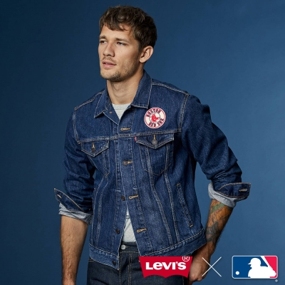 LEVI'S X MLB經典丹寧夾克 波士頓紅襪