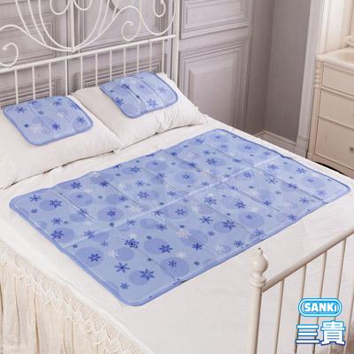 三貴SANKI 3D網雪花紫固態凝膠冰涼墊1床