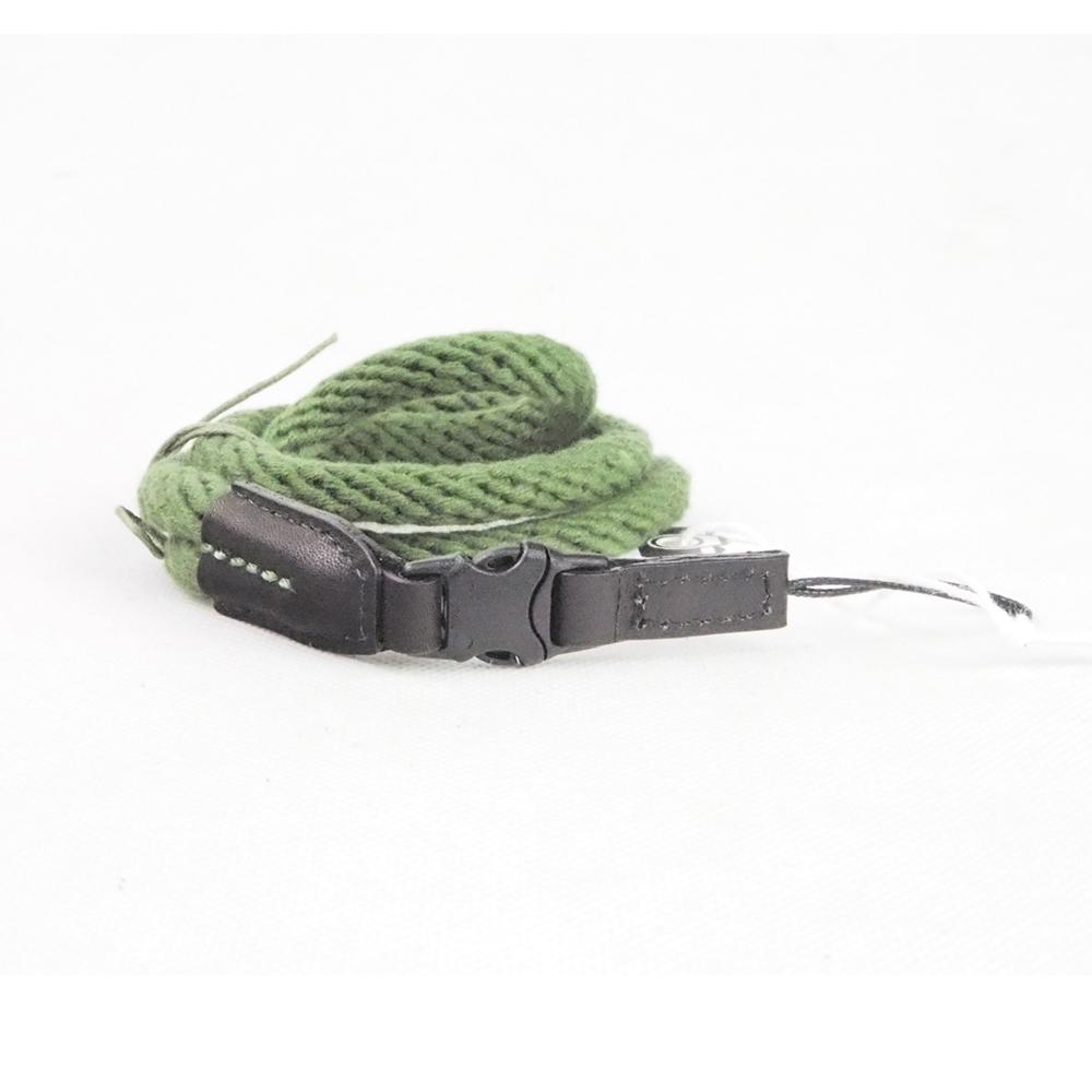 Cam in 棉織真皮單頭時尚相機背帶(共7色)-綠色